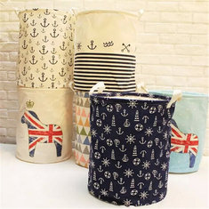 Linen Laundry Hamper Bag Washing Basket Clothes Storage Pouch Collection