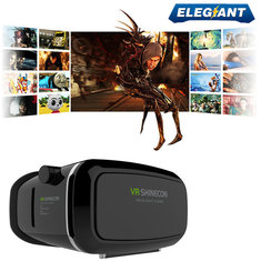 ELEGIANT 3D Google Glasses VR Virtual Reality 3D Movie Video Game Glass for 3.5 to 6 Inch Smartphone