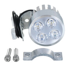 Universal Motorcycle Motorbike 4 LED Front Headlights Driving Fog Spot Lights