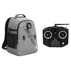 Realacc Backpack Case & FrSky ACCST Taranis Q X7 Transmitter 2.4G 16CH Mode 2 Black