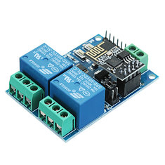 5V ESP8266 Dual WiFi Relay Module Internet Of Things Smart Home Mobile APP Remote Switch