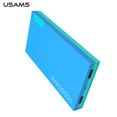USAMS 10000mAh DC5V 2.1A Dual Output Ports Power Bank for Samsung Xiaomi LG Huawei