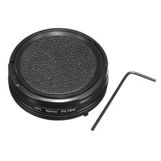 52mm CPL Circular Polarizer Lens Filter with Lens Cap Adapter Ring for Gopro Hero 5