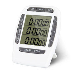 KCASA KC-CKT999 Multifunction Kitchen Timer 3 Display Channels Electronic Count-downn Function Timer
