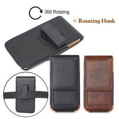 8f310e51e74a Универсальный кожаный бумажник карты слот поясная сумка с возможностью  вращения зажим для телефона от 5.0 до