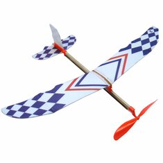 Elastic Rubber Band Powered DIY Foam Plane Kit Aircraft Model Educational Toy