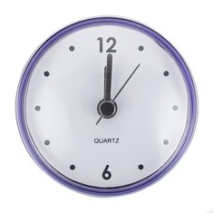 Waterproof Shower Bath Suction Clock Bathroom Mirror Wall Sucker Kitchen Decor Pink Dark Grey Purple Green 4 Colors For Optional
