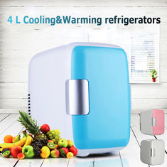 Mini 4L Portable Refrigerator Fridge Freezer Cooler Warmer Car Home Office