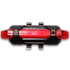 USB Rechargeable Bicycle Tail Light LED Safety Warning Light