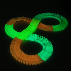 DIY Enlighten Magic LED Tracks Bending Glow In The Dark 165 pieces Race Track Kids Toys Gift