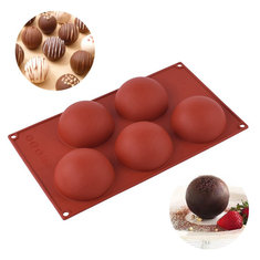 ... 5 Cavity Silicone Bread Cake Chocolate Fondant Mold Mousse Pastry Baking Tools
