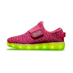 ad7058b63 Niños USB LED Zapatillas de deporte ligeras y luminosas Iluminar zapatos  Colorful Flash Zapatos