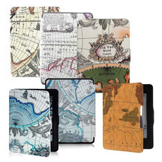 Retro World Map Pattens PU Leather Case Cover Skin For Amazon Kindle Paperwhite