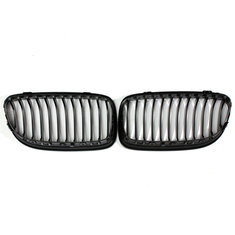 Pair ABS Gloss Black Baking Varnish Front Car Grille For BMW E90 09-12