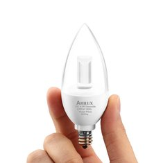 ARILUX® HL-LS04 E12 4.5W Pure White/Warm White Dimmable LED Chandelier Candle Light Bulb AC 120V