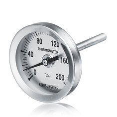 Thermometer For Home Brew Fruit W-ine Alcohol Distiller Part Copper Moonshine Ethanol Alcohol Water Distiller Still Stainless Boiler Supply