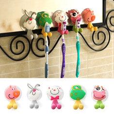 Honana BX-723 Creative Cute Cartoon Animal Powerful Sucker Toothbrush Holder