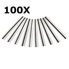100 Pcs 40 Pin 2.54mm Single Row Male Pin Header Strip For Arduino Prototype Shield DIY
