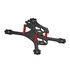 VX98 98mm Wheelbase 2.5mm Arm 3K Carbon Fiber X Stretch FPV Racing Frame Kit
