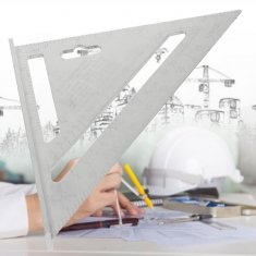 7inch Aluminum Alloy Roofing Rafter Square Triangle Ruler Protractor Measuring Tool