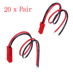 20 Pair JST Connector Plug With Connect Cable For RC BEC ESC Battery