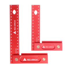 RED ARROW 150/200mm Metric Precision Woodworking Square