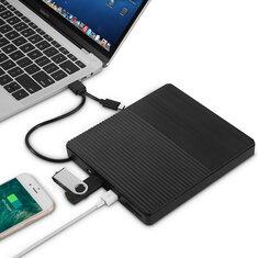 Ultra-thin USB 3.0 Type C External Optical Drive Burner