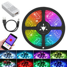 1M/2M/3M/5M bluetooth WS2812B Individually Addressable LED Strips