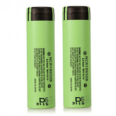 2pcs NCR18650B 3400mAH 3.7 V Unprotected Rechargeable Li-ion Battery