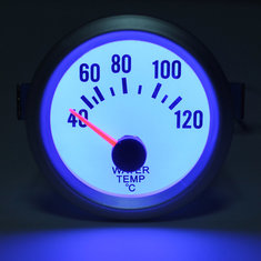 Electrical Water Temp Gauge With White Face Blue LED -Temperature New