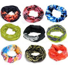 Random Delivery Seamless Multi Function Scarf Windproof  Masks Motorcycle Headscarf