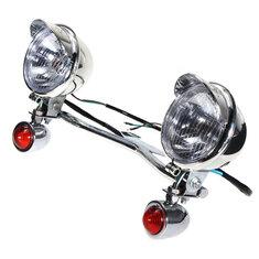 Turn Light Spot Lightt Bar Passing Lamp For Harley Davidson Honda Kawasaki Vulcan
