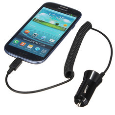 Micro USB Port Plug Car Charger Adapter for iPhone Samsung Blackberry