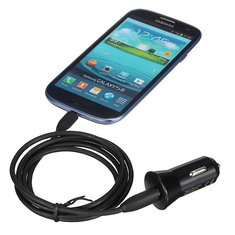 USB Port Plug Car Charger Adapter for iPhone Samsung Blackberry