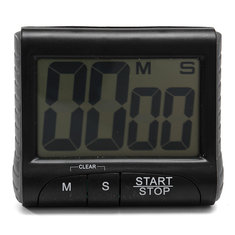 LCD Digital Kitchen Timer Count-downn Up Clock Loud Alarm Black White