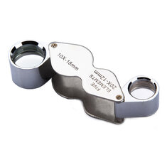 10X 20X Jeweller Loupe Magnifier Dual Magnifying Glass