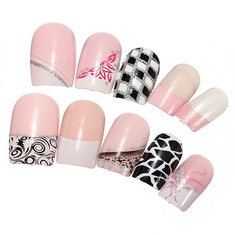 Analytical False Nails Full Cover 500pcs 3d French Acrylic Nude False Nail Art Tips Artificial Nail Tips Health & Beauty