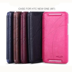 KALAIDENG Ultra-thin PU Leather Flip Wallet Case For HTC One M7