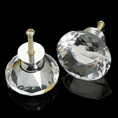 Clear Crystal Knob Handle Drawer Kitchen Door Wardrobe Hardware