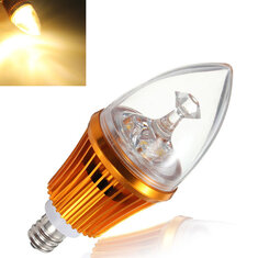 E12 4.2W 3LED Non-dimmable Warm White Light Bulb Base 85-264V