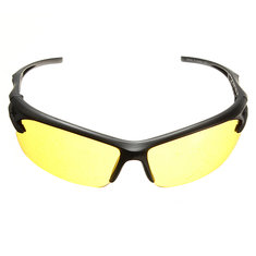 Night Vision UV400 Driving Riding Glasses Sun Glassess Yellow Lens