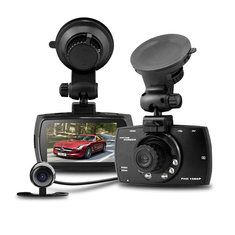 Azdome G30B Car DVR Allwinner A20 Chipset 2.7 Inch LCD HD 1080P 140 Degree Wide Angle Dual Lens