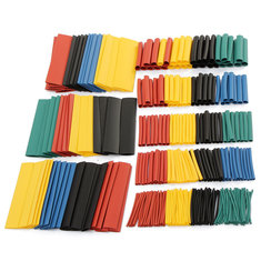 Soloop 328pcs 2:1 Polyolefin Halogen-Free Heat Shrink Tube Sleeving 5 Color 8 Size