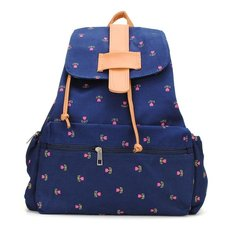 d6a8681130 Vintage Girls Small Flowers Backpack Canvas Schoolbag Rucksack