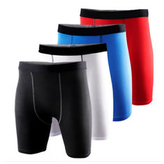 Mens Sports Tight Shorts Fitness Training Slim Breeches