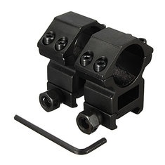 25.4mm Scope Rings For Picatinny Weaver Rail Mount Black 2pcs (Flashlight Accessories)