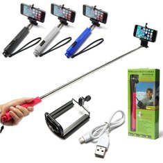 Handheld Bluetooth Selfie Stick Monopod Extendable For iPhone