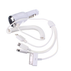 4in1 Car Charger Adapter For iPhone 6/5S/4S Samsung Galaxy S5/4