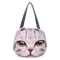 Women 3D Dog Cat Pussy Face Purse Cute Shopping Tote Shoulder Bag