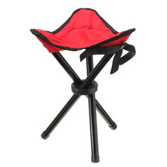 Camping Hiking Fishing Picnic BBQ Folding Foldable Stool Tripod Chair